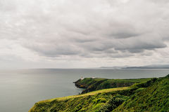 Howth Peninsula on a moody cloudy day, Ireland Stock Photo