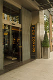 Hoxton旅馆入口,伦敦 库存图片