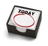 Hoy calendario Imagen de archivo