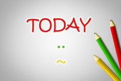 Hoy concepto stock de ilustración