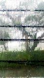 Hoy, la lluvia que corre abajo de la ventana Imagen de archivo libre de regalías