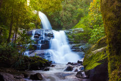 Hoy sai yheang waterfall.waterfall in chiangmai Thailand Royalty Free Stock Images