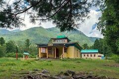 Hoymorsky Arshansky datsan Bodhidharma在Arshan村庄 库存照片