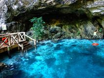 Hoyo Azul in Dominican Republic royalty free stock images