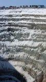 Hoyo de la explotación minera Imagen de archivo