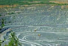 Hoyo de la explotación minera Imágenes de archivo libres de regalías