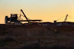 Hoyo de la explotación minera Open Fotografía de archivo