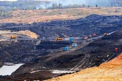 Hoyo de la explotación minera Open Foto de archivo libre de regalías
