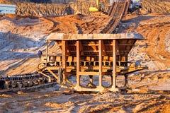 Hoyo de la explotación minera Open Fotografía de archivo libre de regalías