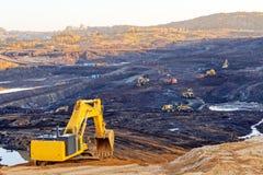 Hoyo de la explotación minera Open Fotos de archivo