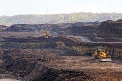 Hoyo de la explotación minera Open Imagen de archivo