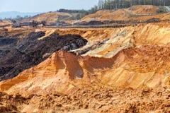 Hoyo de la explotación minera Open Imágenes de archivo libres de regalías
