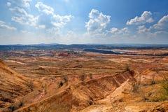 Hoyo de la explotación minera Open Fotos de archivo libres de regalías