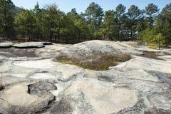 Hoyo de la solución en Stone Mountain Foto de archivo libre de regalías
