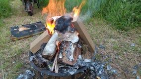 Hoyo del fuego Imagen de archivo libre de regalías