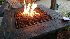 Hoyo del fuego Fotografía de archivo