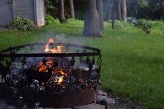 Hoyo del fuego de los ciervos Imagen de archivo libre de regalías