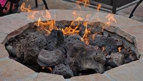 Hoyo del fuego del patio Imágenes de archivo libres de regalías