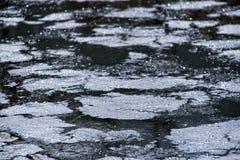 Hoyo del petróleo del aceite Fotografía de archivo libre de regalías