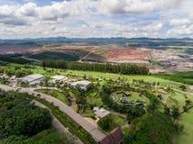 Hoyos de la mina; Visión aérea Foto de archivo libre de regalías