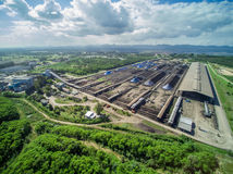 Hoyos de la mina; Visión aérea Fotografía de archivo libre de regalías