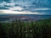 Hoyos de la mina; Visión aérea Foto de archivo