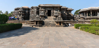 Hoysaleshwara印度寺庙, Halebid,卡纳塔克邦,印度 库存图片