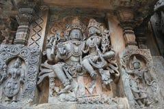 Free Hoysaleshwara Temple Wall Carving Of Lord Shiva And Parvati God And Goddess Carving Royalty Free Stock Photos - 97595338