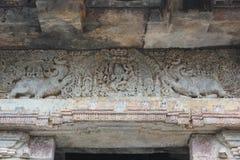Hoysaleswara Świątynny wejście - Makara Thoram mityczny zwierzę rzeźbił wejście Obraz Royalty Free