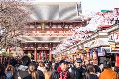 Hozomon gate in Asakusa, Tokyo Stock Image