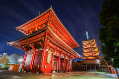 Hozomon gate of Senso-ji Temple in Tokyo Stock Photography