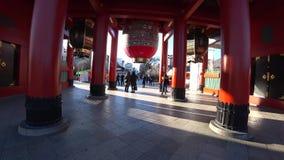 Hozomon ou porte de Chambre de trésor de temple de Sensoji, Tokyo clips vidéos