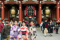 Hozomon, Senso-jitempel Asakusa, Tokyo - Japan Stockfoto