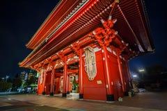 Hozomonpoort van Tempel Senso -senso-ji in Tokyo stock foto