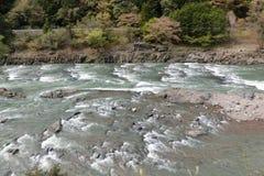 Hozugawa在京都日本 免版税库存照片