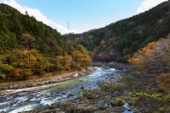 Hozugawa river in Arashiyama Royalty Free Stock Photography
