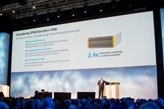 HP führen Vizepräsidenten Dave Donatelli durch lizenzfreie stockfotografie