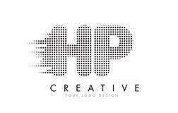 HP H.P.与黑小点和足迹的Letter Logo 图库摄影