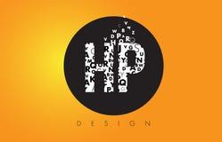 HP H.P. Logo小字母Made的与黑圈子和黄色B的 图库摄影