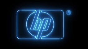 HP with neon lights