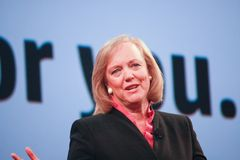 HP president and chief executive officer Meg Whitman Stock Photo