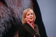 HP president and chief executive officer Meg Whitman Stock Photos