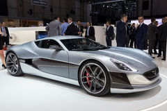 1073HP Rimac Concept One Electric Supercar Royalty Free Stock Photos