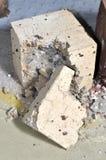 HPC-Betonblock zerstört Stockbild