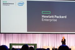 HPE president and chief executive officer Meg Whitman delivers a speech Stock Photos