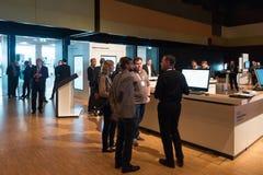HPE is promoting their digital transformation workshops. Stuttgart, Germany - September 28, 2016: Hewlett-Packard Enterprise is promoting their digital Stock Image
