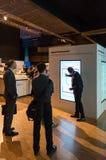 HPE is promoting their digital transformation workshops. Stuttgart, Germany - September 28, 2016: Hewlett-Packard Enterprise is promoting their digital Stock Photos