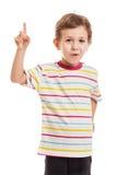 Häpen eller förvånad pojke Arkivfoto