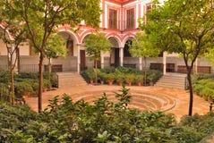 Hôpital vénérablement de patio Image libre de droits