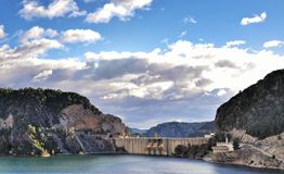 HPP. Hydroelectric dam in Valencia Stock Image